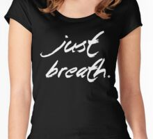 Yoga - Just breath. Women's Fitted Scoop T-Shirt