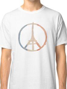 Paris Peace Eiffel Tower in Tricolor Colors Classic T-Shirt