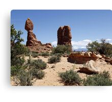 Arches National Park Utah Balanced Rock Red Canvas Print