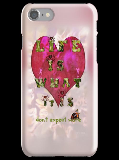 Life is what it is - Love - hearts - typography art by Yvon van der Wijk
