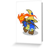 small wizard fire Greeting Card