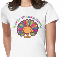 Happy Thanksgiving T-Shirt Womens Fitted T-Shirt
