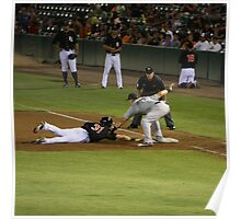 Baseball - Picked Off First Base Poster