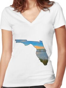 Florida Women's Fitted V-Neck T-Shirt