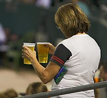Beer  - The All Time Favorite Baseball Refreshment by Buckwhite