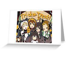 Anime Halloween  Greeting Card