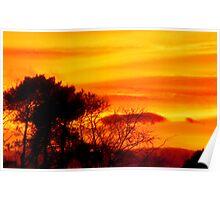 Scottish Sunset Poster