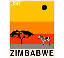 Visit ZIMBABWE Travel Poster (v1) Photographic Print