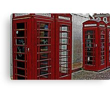 Red retro telephone boxes  Canvas Print