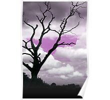 Purple sky tree Abstract Poster