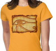 Eye of Prophecy Ancient Egyptian Papyrus Art Womens Fitted T-Shirt