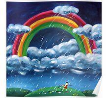 Painting Rainblows Poster