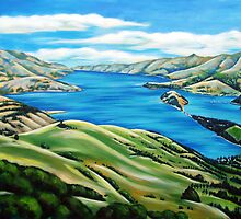 Akaroa Harbour by Ira Mitchell-Kirk