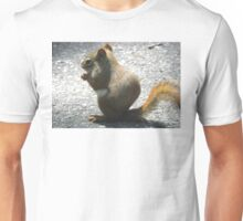 Red Squirrel Nibbling Away Unisex T-Shirt