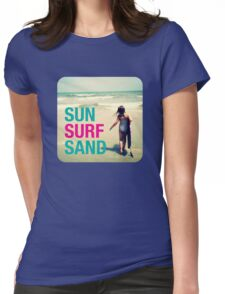Sun Surf Sand Womens Fitted T-Shirt
