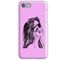 Swag Skull Girl iPhone Case/Skin