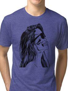 Swag Skull Girl Tri-blend T-Shirt
