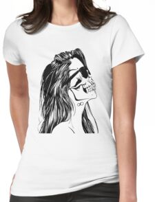 Swag Skull Girl Womens Fitted T-Shirt