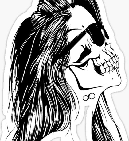 Swag Skull Girl Sticker