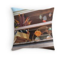 Lively balcony Throw Pillow