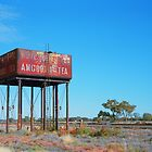 Old railway water tank by Danny  Waters