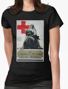 The greatest mother in the world Red Cross Christmas roll call Dec 16 23rd Womens Fitted T-Shirt