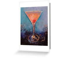 Pink Lemonade Martini Greeting Card