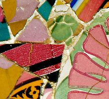 Gaudi mosaic flower art by traveling9to5