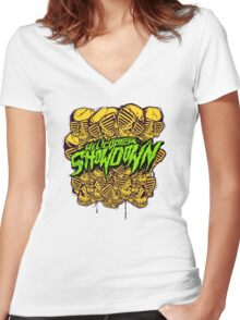 Helicopter Showdown Women's Fitted V-Neck T-Shirt