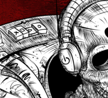 Skull Space Music Game - VER 2 Sticker