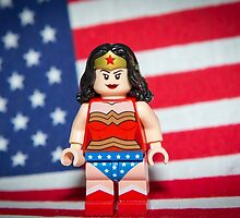 Wonder Woman with Flag by garykaz