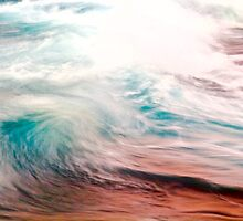 Evening Color on Waves by Barbara  Brown