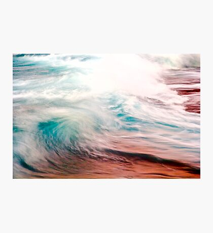 Evening Color on Waves Photographic Print