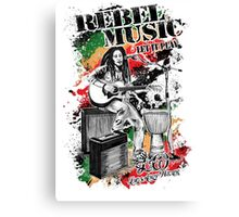 Rebel Music Canvas Print