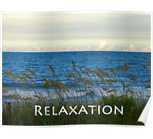 Relaxation by the Seashore Poster