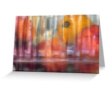 still life under plastic Greeting Card