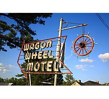 Route 66 - Wagon Wheel Motel Photographic Print