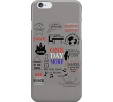 Les Miserables Quotes iPhone Case/Skin