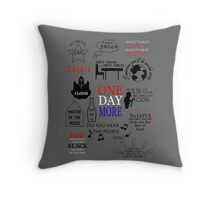 Les Miserables Quotes Throw Pillow