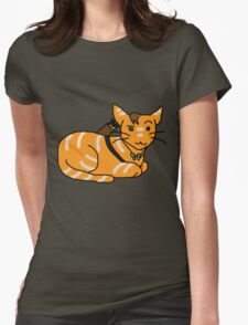 Daryl Dixon Kitty Womens Fitted T-Shirt