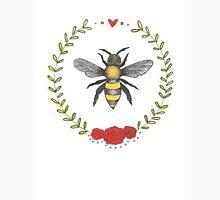 Bee & Rose Wreath Unisex T-Shirt