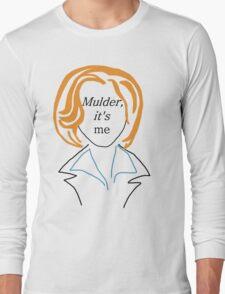 Mulder It's Me (transparent) Long Sleeve T-Shirt