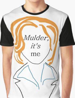 Mulder It's Me (transparent) Graphic T-Shirt