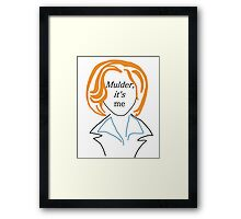 Mulder It's Me (transparent) Framed Print