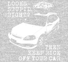 Keep Rice Off Your Car Kids Tee