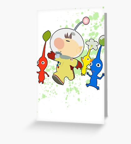 Olimar - Super Smash Bros Greeting Card
