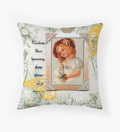 Kindness Quote Book Page Throw Pillow