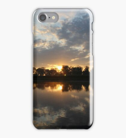 Small Lake At Dawn iPhone Case/Skin