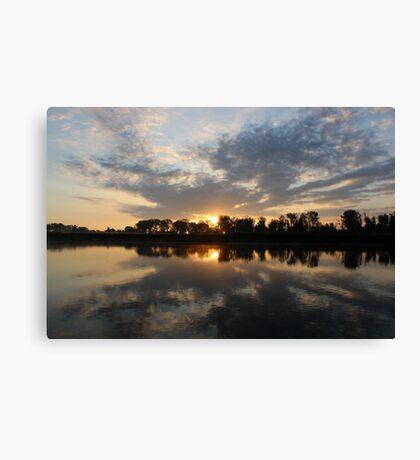 Small Lake At Dawn Canvas Print
