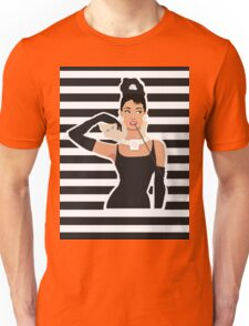 Breakfast with Audrey  Unisex T-Shirt
